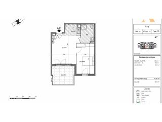 appartement 2 pieces de 42m² à la trinite